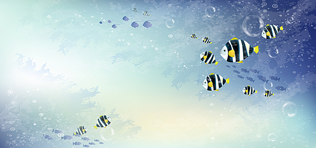 卡通海底世界背景
