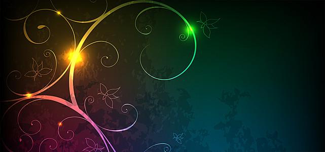 炫彩光效花纹背景