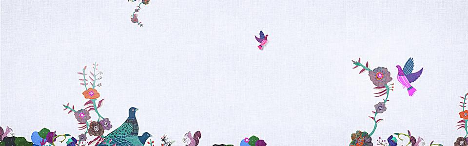 五一炫彩花纹图案背景