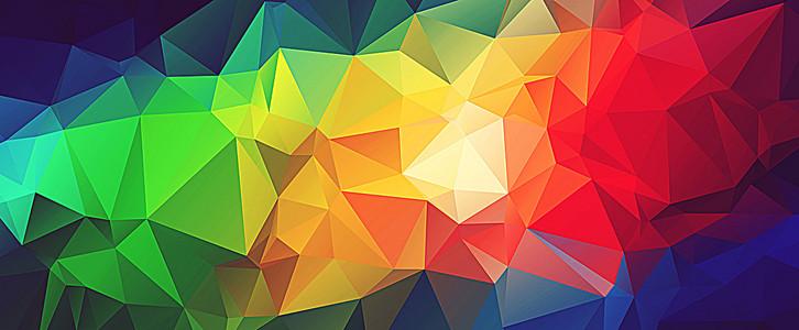 多彩几何背景图