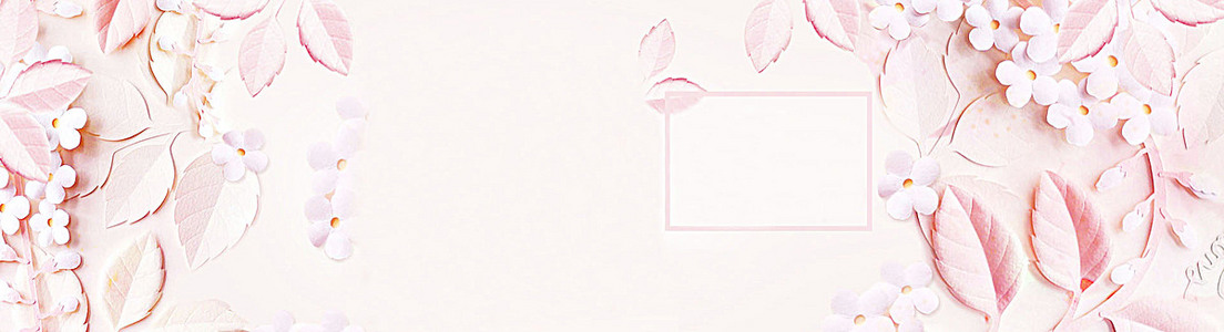 浪漫唯美花卉背景banner装饰