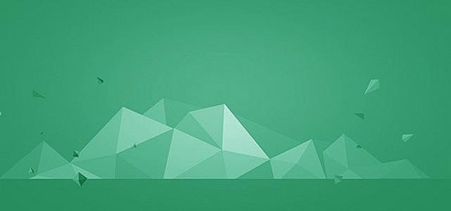 绿色不规则形状背景
