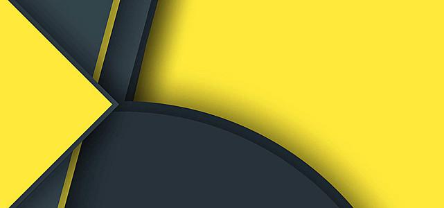 黄黑几何创意背景