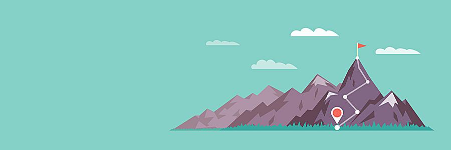 登山运动banner