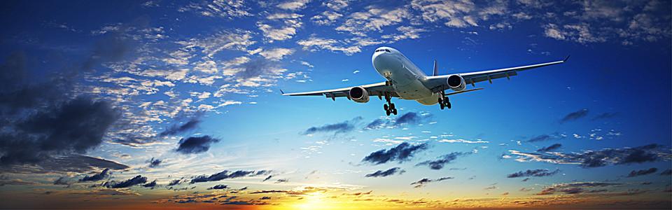 飞机起飞背景图