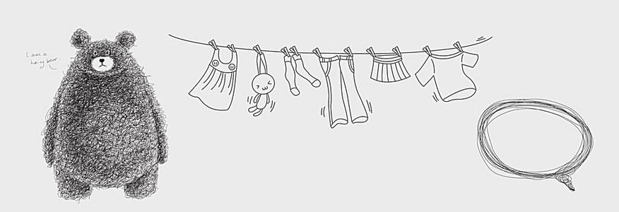 灰色卡通儿童母婴淘宝背景