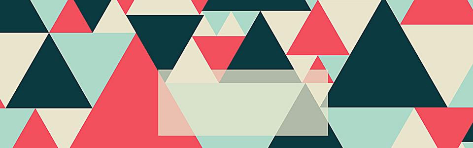 几何三角形多彩背景