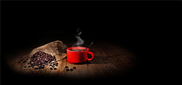简约咖啡餐饮美食背景