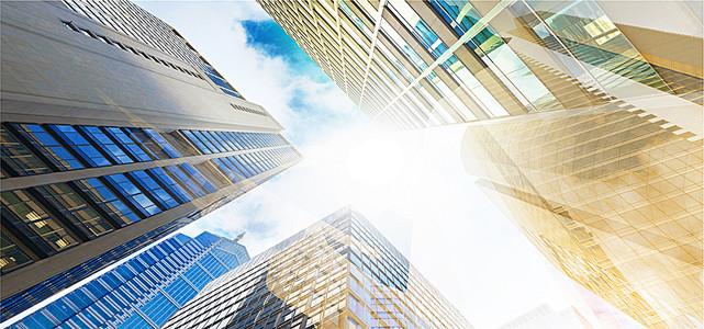 光线商务建筑楼海报背景