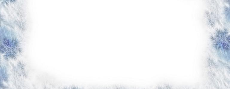 朦胧的浅色系雪花边框图片
