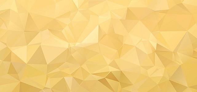 金色低多边形几何背景