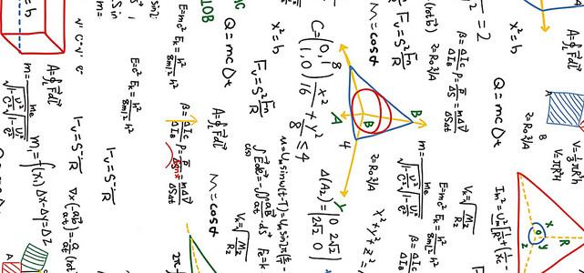 清新数学公式背景