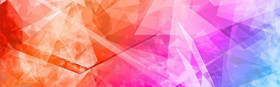 彩色几何碎片背景