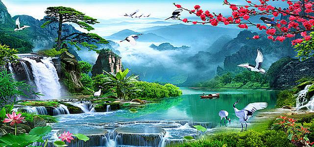 山水风景图