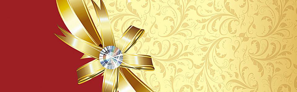金色礼盒背景
