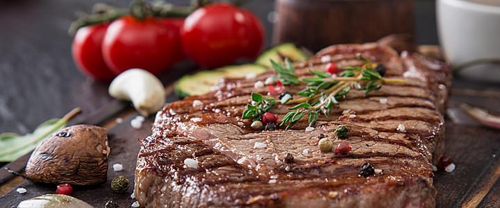 美味的烤肉食物高清图片