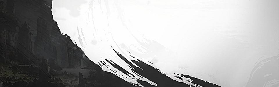 黑色墨迹笔刷背景