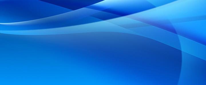 蓝色柔美光带背景