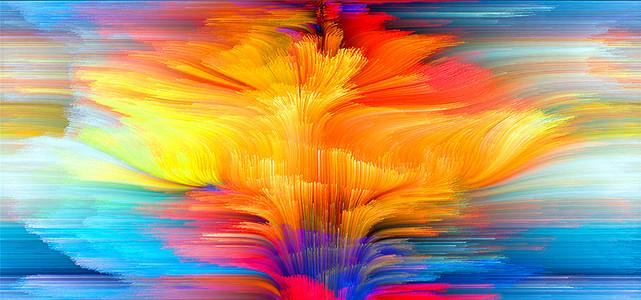 绚丽抽象艺术画