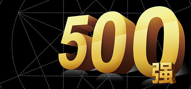 黑色线条背景金色世界500强海报banner