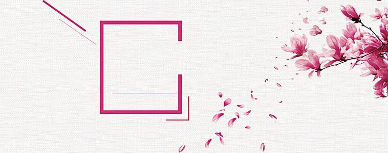 粉色清新樱花女装背景