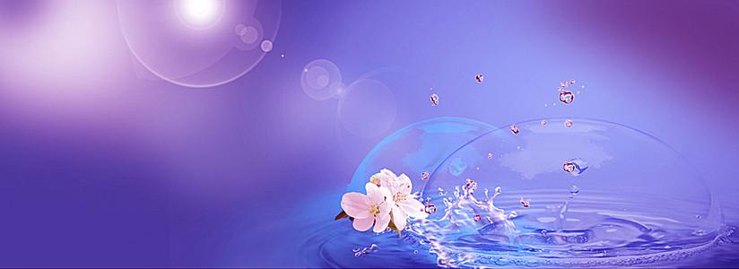 梦幻唯美花卉背景