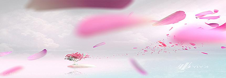 唯美花瓣飘散背景图
