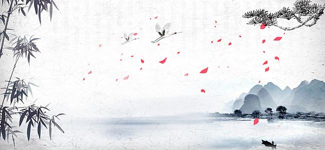 中国风banner背景