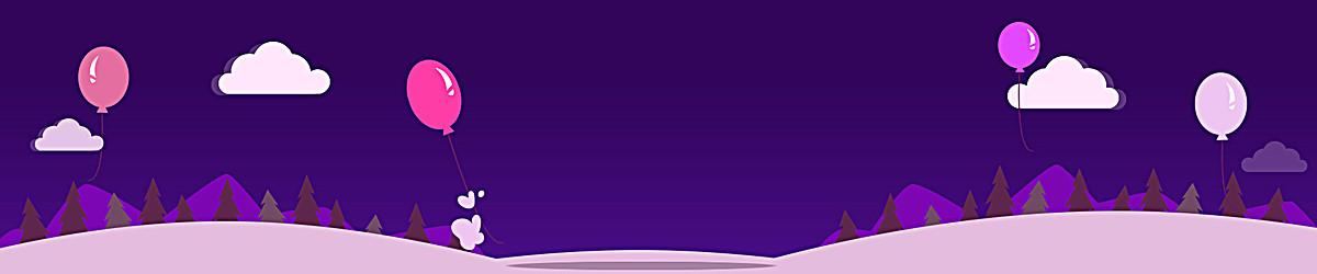 紫色扁平漂浮背景素材