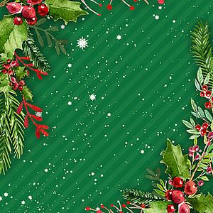 绿色圣诞斜纹背景