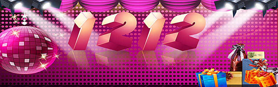 紫色淘宝双十二活动海报banner背景