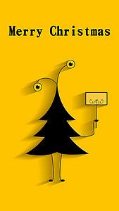 扁平化圣诞树h5背景