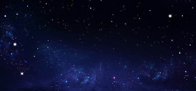 蓝色星光星空背景图