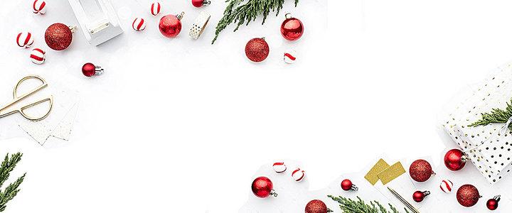 圣诞清新白色海报背景