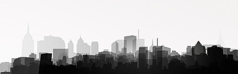黑白建筑简约海报背景