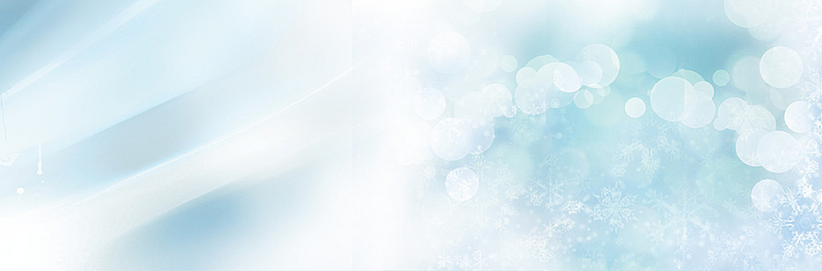 蓝色小清新雪花水背景