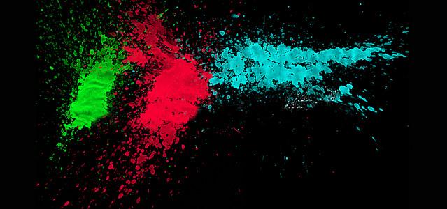 喷漆质感彩色文具用品banner背景