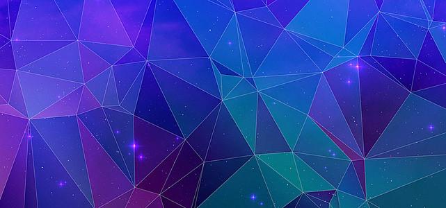 天猫几何蓝色运动海报背景