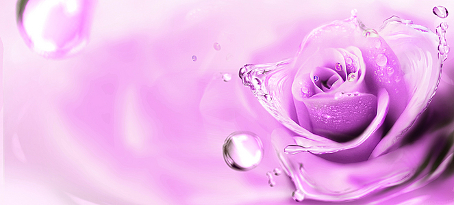 水浪漫梦幻紫色淘宝海报背景