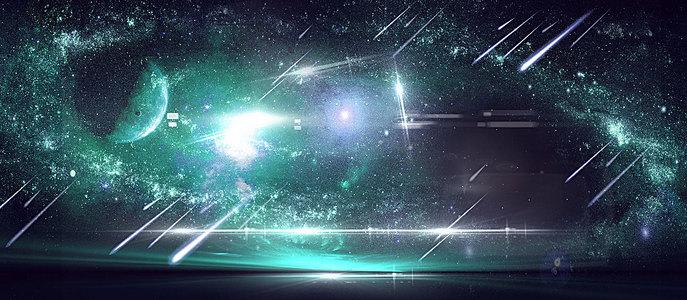 淘宝宇宙光简约大气海报