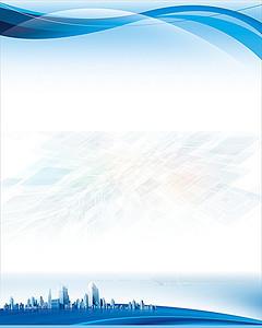蓝色科技商务海报背景素材