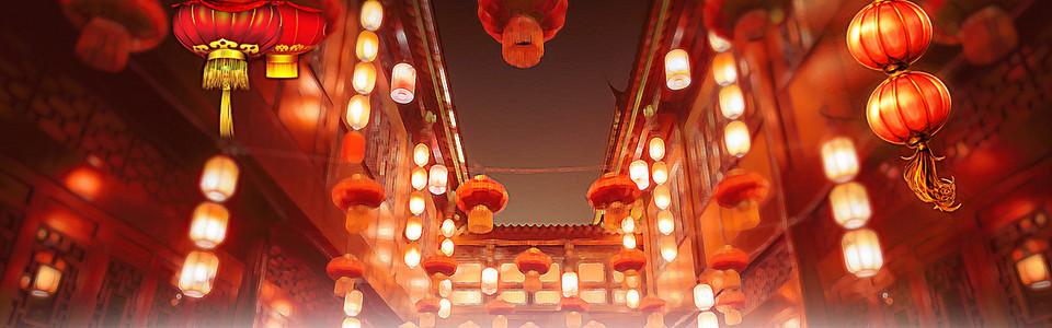 春节年货节海报背景