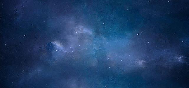 星空科幻蓝色教育海报背景