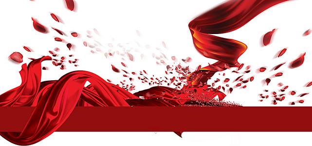 梦幻的红色淘宝海报背景