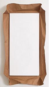 千库网-简洁框牛皮纸白纸白色H5背景