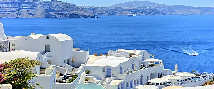 浪漫爱琴海旅游海报背景图