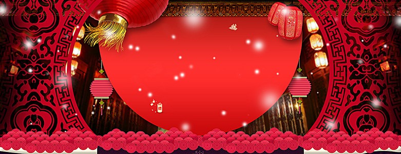 春节不打烊中国风红色海报背景