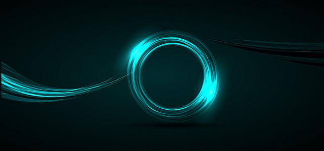荧光光环大尺寸背景