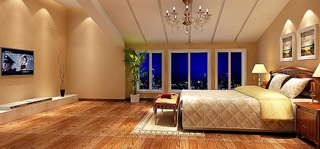 卧室吊顶效果图地板背景