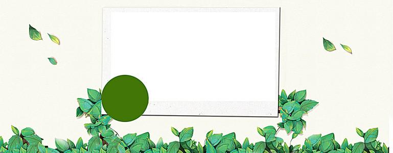 绿色边框淘宝海报背景